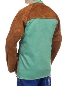 weldas Lava Brown skórzana kurtka spawalnicza z dwoiny bydlęcej -1