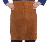 Lava Brown™ skórzany fartuch spawalniczy na pas z dwoiny bydlęcej, 60 cm dł. i 60 cm szer