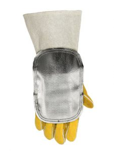 Weldas Aluminizowana osłona na rękę odbiająca wysoką temperaturę, skóra od wewnątrz