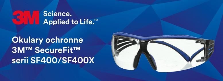 Okulary ochronne 3M SecureFit serii SF400 SF400x